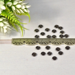 Пуговицы метал 6 мм Черный никель