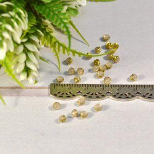 Пуговицы Декор Жемчужина бежевая полупрозрачная на золоте 4мм